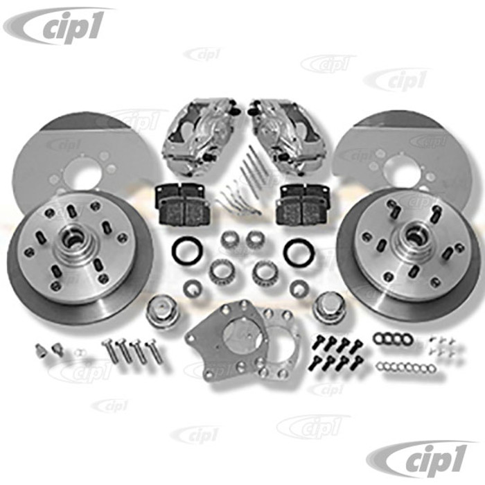 C31-499-165-5130ZO - CSP MADE IN GERMANY -  52-65 BEETLE/GHIA BOLT-ON (DRUM SPINDLE) DISC BRAKE KIT - WITH 5X130MM BOLT PATTERN WITH ZERO OFF-SET - (A50)