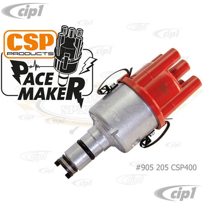C31-905-205-CSP400 - CSP PACEMAKER PROGRAMMABLE 009 STYLE DISTRIBUTOR WITH BLUETOOTH AND VACUUM PORT - MACHINED SILVER BODY - WITH RED BERU DIST.CAP - SOLD EACH