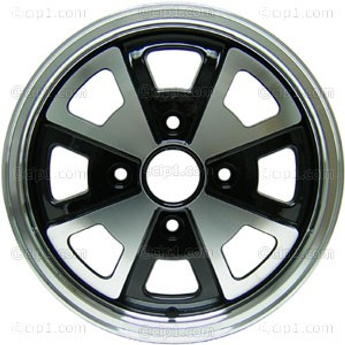 C32-LIT413-B - 914 2-LITRE STYLE ALUMINUM WHEEL - BLACK WITH POLISHED SPOKES - 5.5 INCH WIDE X 15 INCH DIA. (4 INCH BACKSPACE) - CENTER CAP AND 60% ACORN HARDWARE SOLD SEP. - SOLD EACH