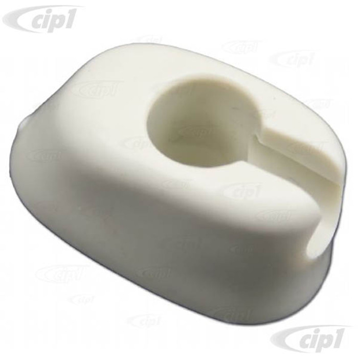 C33-B00709 - (111857561 - 111-857-561) - GERMAN QUALITY FROM C&C U.K. - SUNVISOR CLIPS - OFF-WHITE - BEETLE 65-3/67 - BUS 68-79 - SOLD PAIR