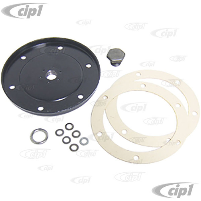 ACC-C10-5395 - OIL DRAIN PLATE W/GASKET SET  - ALL 40HP - 12-1600CC BEETLE STYLE ENGINES
