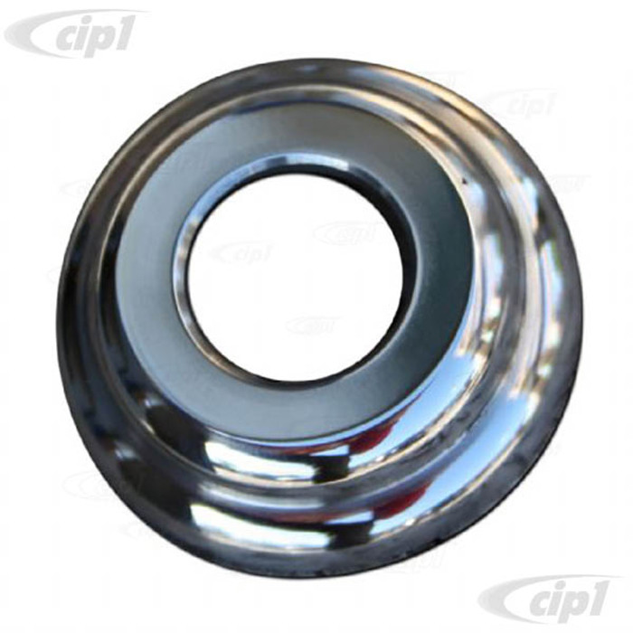C33-S00207 - (111837235CF - 111-837-235CF) - GERMAN QUALITY FROM C&C U.K. - HANDLE COLLAR - POLISHED STAINLESS STEEL - BEETLE 46-63 - BUS 52-63 - SOLD EACH