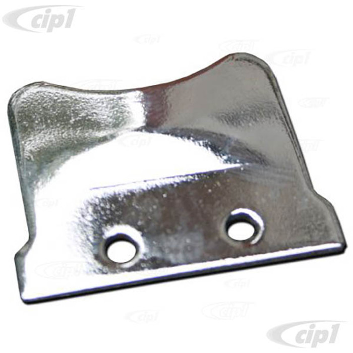 C33-S00299 - (211837635A - 211-837-635A) - GERMAN QUALITY FROM C&C U.K. - CHROME FINISH1/4 LIGHT CATCH PLATE FITS LEFT OR RIGHT - BUS 55-67 - SOLD EACH