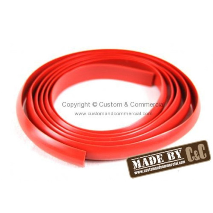 C33-S00660 - (241853590 241-853-590) - GERMAN QUALITY FROM C&C U.K. - WAX RED ROCKER MOLDING INSERT FOR 1 SIDE (2 REQUIRED PER BUS) - SOLD EACH