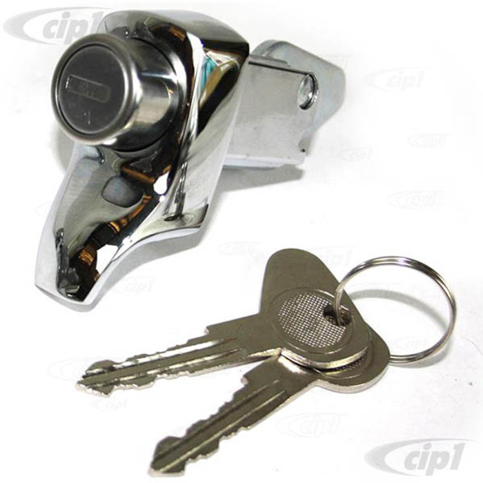 C33-S11668 - (211827503D - 211-827-503-D) - GERMAN QUALITY FROM C&C U.K. - ENGINE COMPARTMENT LID/DOOR LOCK WITH KEYS - BUS 68-71 / THING 69-79 - SOLD EACH