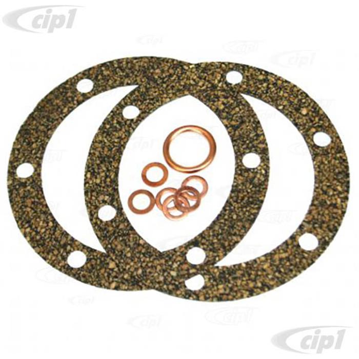 C33-S23423 - (111198031CN - 111-198-031CN) - GERMAN QUALITY FROM C&C U.K. - OIL CHANGE GASKET SET NEOPRENE AND CORK ALL 25/36HP ENGINES - SOLD SET
