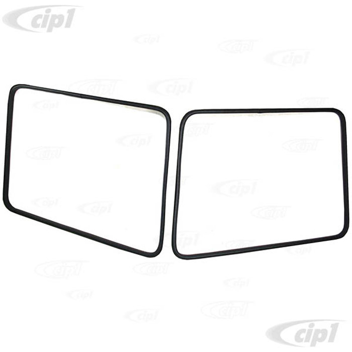 C33-S23635 - (261847540 - 261-847-540) - GERMAN QUALITY FROM C&C U.K. - MODERN STYLE SAFARI WINDOW SEALS FOR BOTH FRONT WINDOW - BUS 50-67 - SOLD PAIR