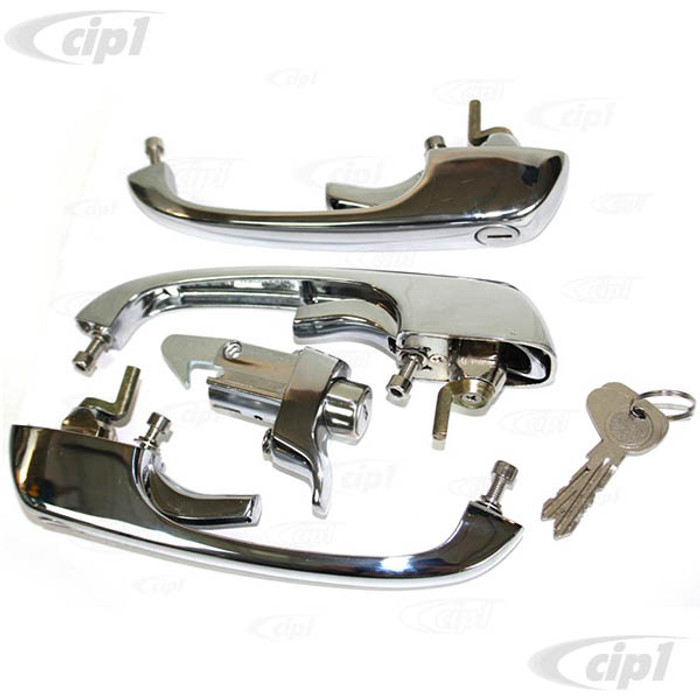 C33-S26388 - (214837208 - 214-837-208) - GERMAN QUALITY FROM C&C U.K. - COMPLETE HANDLE SET ON ONE R CODE KEY DOUBLE CAB - BUS 9/ 68-71 - SOLD SET