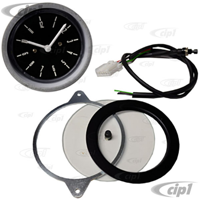 C34-EAC4-1052-02N – CLOCK – BLACK FACE WITH NO EMBELLISHMENT – BUS 68-79