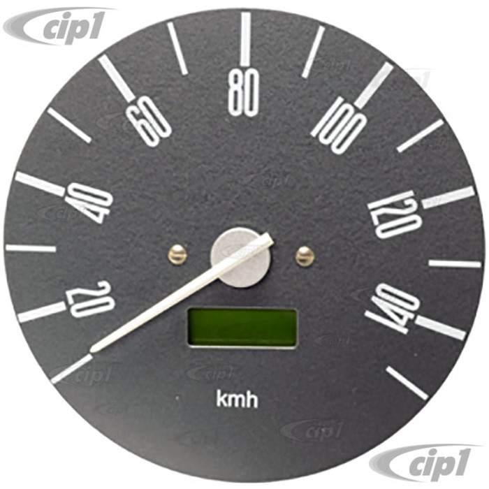 C34-EES7-1B02-03N - OE STYLE PROGRAMMABLE ELECTRONIC 140 KMH SPEEDOMETER WITH GREY FACE (SENSOR - WIRING HARNESS INCLUDED) - BUS 74-75