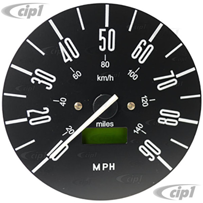 C34-EES7-1B02-04N - OE STYLE PROGRAMMABLE ELECTRONIC 90 MPH SPEEDOMETER WITH GREY FACE (SENSOR - WIRING HARNESS INCLUDED) - BUS 76-79