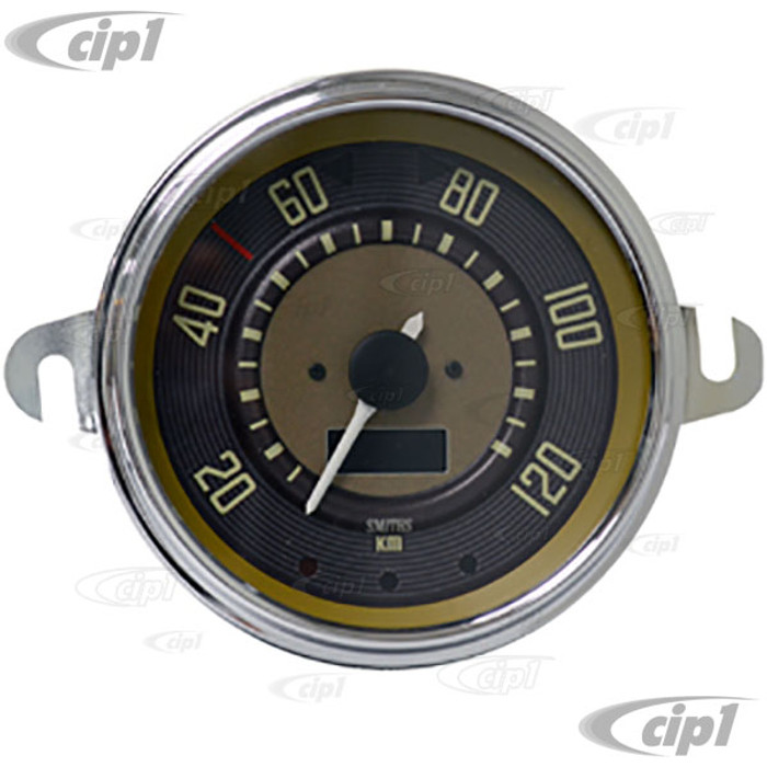 C34-EES9-1B36-01C – OE STYLE EARLY 12V PROGRAMMABLE ELECTRONIC KMH SPEEDOMETER (SENSOR & WIRING HARNESS INCLUDED - SPEEDO CABLE IS NOT INCLUDED) - BUS TO 1967 (ALSO FITS BEETLE TO 67) - 115MM OR 4.5INCH DIAMETER