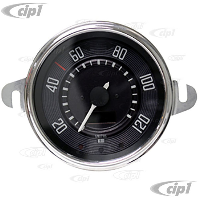 C34-EES9-1B36-03C – OE STYLE EARLY 12V PROGRAMMABLE ELECTRONIC KMH SPEEDOMETER (SENSOR & WIRING HARNESS INCLUDED - SPEEDO CABLE IS NOT INCLUDED) – BEETLE TO 1967 (ALSO FITS BUS TO 67) - 115MM OR 4.5INCH DIAMETER