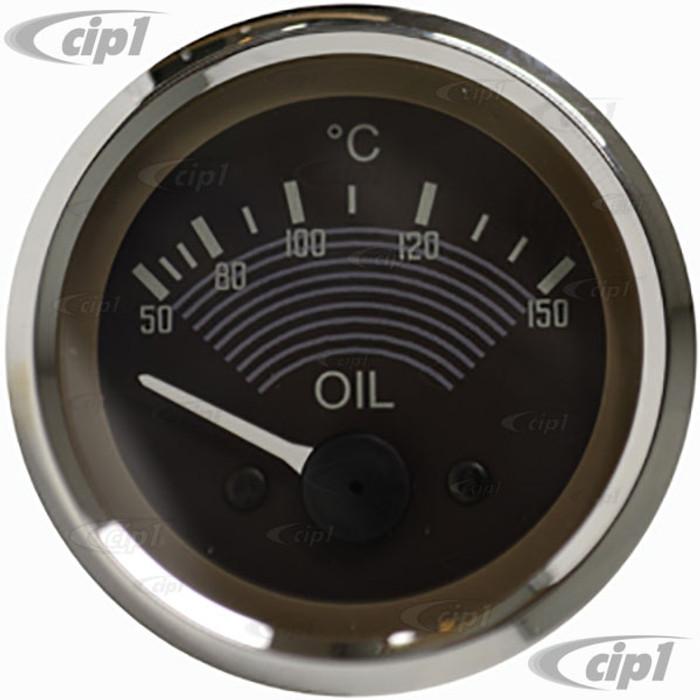 C34-EOT1-1452-26C - OE STYLE EARLY 12V OIL TEMP GAUGE - 52MM OR 2-1/16 INCH DIAMETER - SOLD EACH