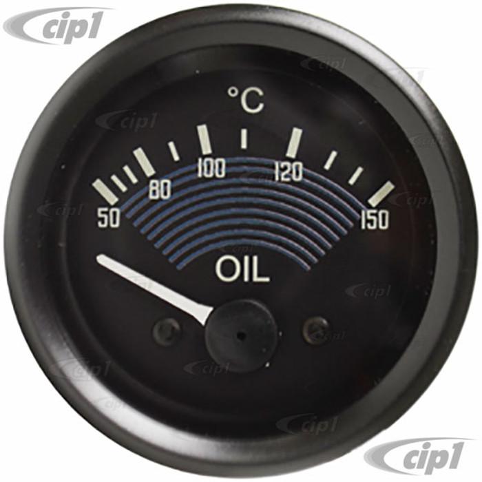 C34-EOT1-1452-27B - SMITH - OE STYLE BLACK 12V OIL TEMP GAUGE - 52MM OR 2-1/16 INCH DIAMETER - SOLD EACH