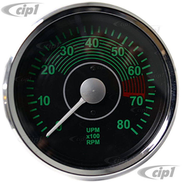C34-RVC2490-19CB - REPRODUCTION 356 ELECTRONIC TACHOMETER - 100MM DIAMETER - SOLD EACH