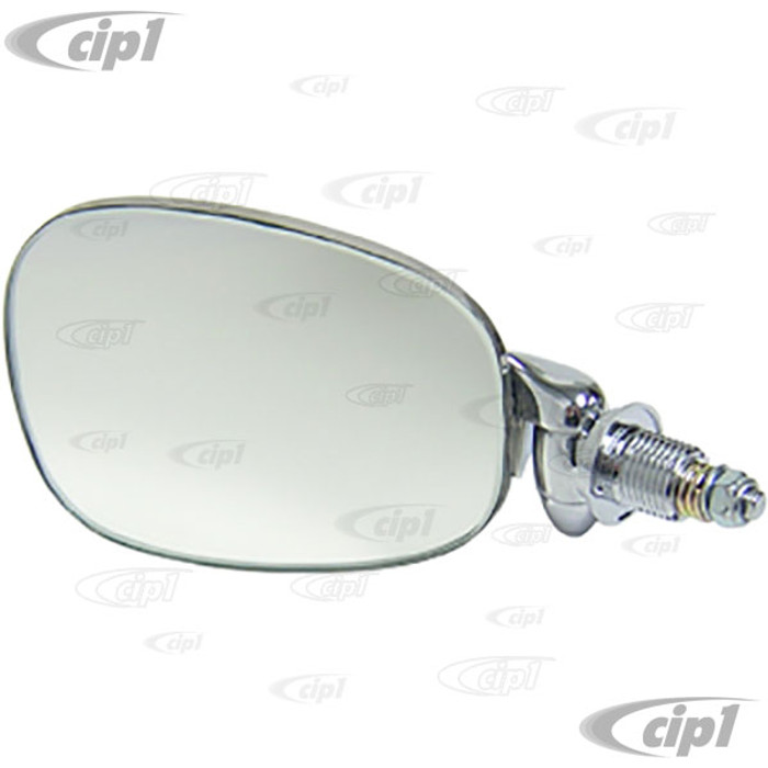 C38-T3-028 - FLAT-4 OE QUALITY OUTSIDE DOOR MIRROR - LEFT - TYPE-3 62-74  BEST CHROME FINISH - SOLD EACH
