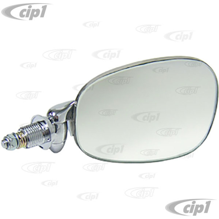 C38-T3-029 - FLAT-4 OE QUALITY OUTSIDE DOOR MIRROR - RIGHT - TYPE-3 62-74  BEST CHROME FINISH - SOLD EACH