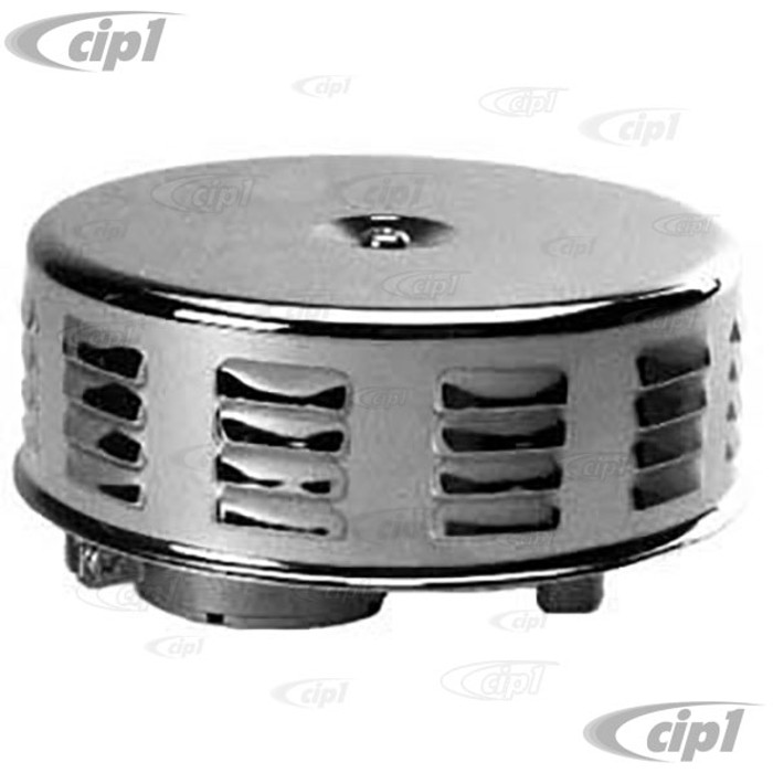 ACC-C10-5588 - 5 1/2 X 2 CHROME LOUVERED AIR CLEANER FOR STOCK SOLEX CARB