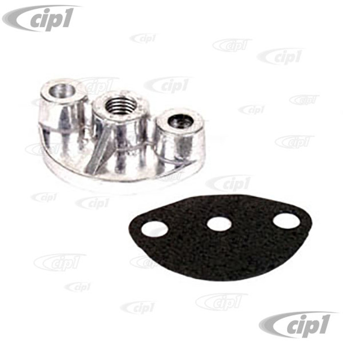 ACC-C10-5625 - FUEL PUMP BLOCK OFF - BUG STYLE 12-1600 ENG.-TAPPED FOR 1/4 INCH NPT (NOT DRILLED COMPLETELY THRU)