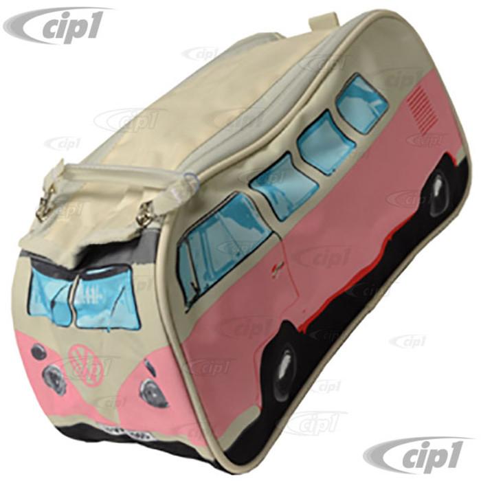 CIP1-BUS-BAG-P - VW CAMPER VAN TOILETRY / WASH BAG - PINK