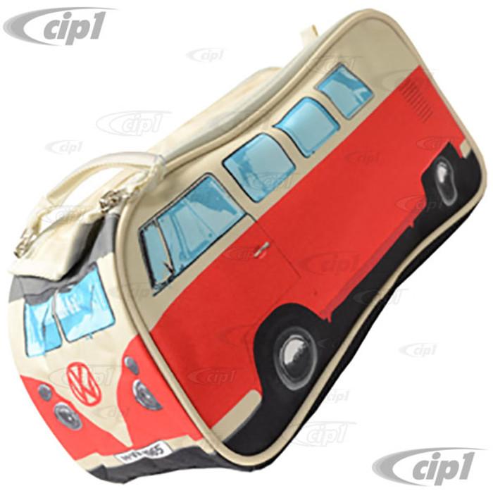 CIP1-BUS-BAG-R - VW CAMPER VAN TOILETRY / WASH BAG - RED