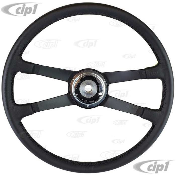 P-901-347-081-10 - 1645500100 - 400MM VDM REPRODUCTION - LEATHER WRAPPED STEERING WHEEL (WITHOUT HORN BUTTON OR MOUNTING HARDWARE) - PORSCHE 911/912 65-73 - ALL 914 - SOLD EACH