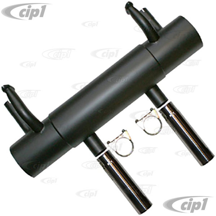 P-92104 - SPORT EXHAUST WITH POLISHED TIPS - 356 60-64 ENGINE - SOLD EACH