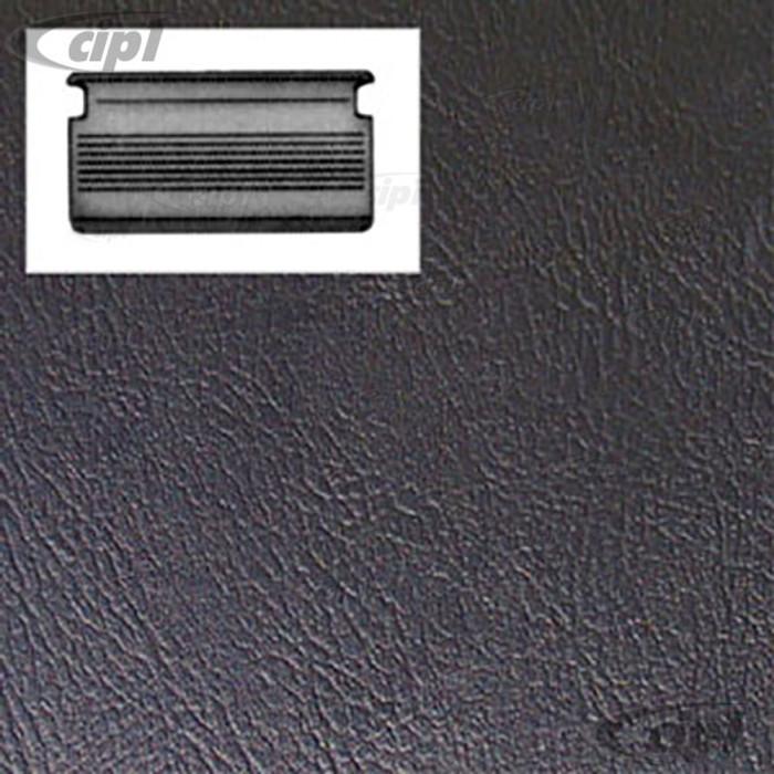 T10-2129-11 - SLIDING DOOR PANEL SMOOTH BLACK VINYL - BUS 71-79