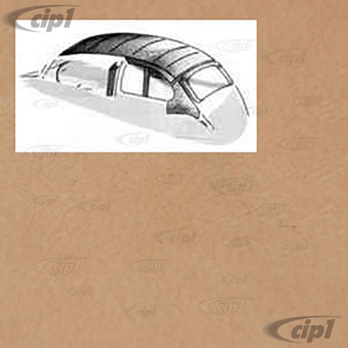 T20-1108-76 - 58-63 BEETLE SEDAN WITH SUNROOF -O.E. STYLE HEADLINER  BEIGE MOHAIR