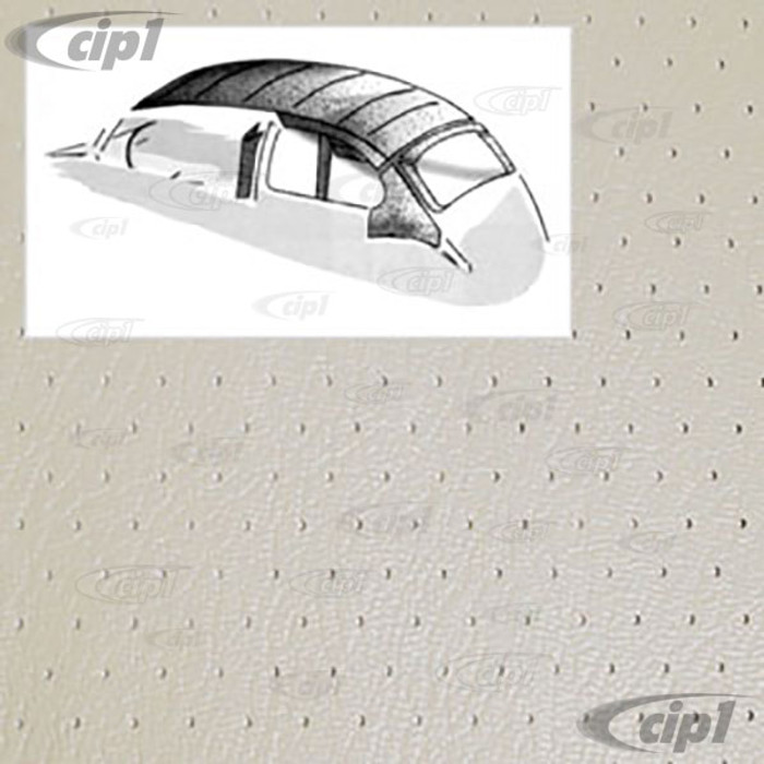 T20-1111-44 - 64-67 BEETLE SEDAN WITH SUNROOF-O.E. STYLE HEADLINER W/DOOR POSTS OFF-WHITE PERFORATED VINYL
