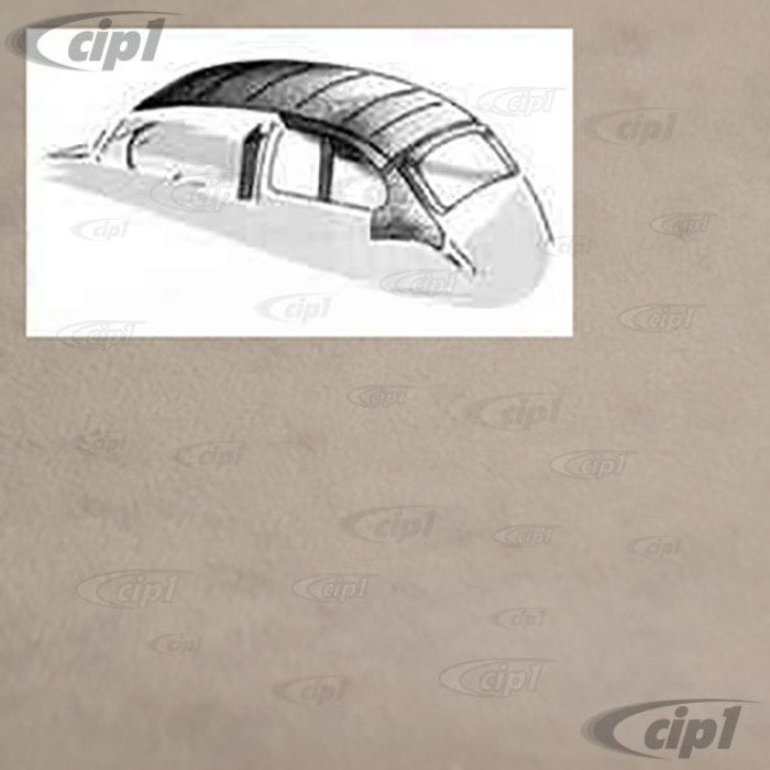 T20-1115-75 - 53-60 BEETLE SEDAN -O.E. STYLE HEADLINER -W/ POST MATERIAL - GREY MOHAIR