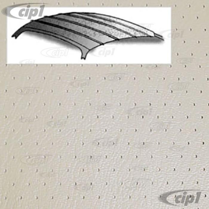 T20-1510-44 - 56-74 GHIA SEDAN HEADLINER - OFF-WHITE PERORATED VINYL