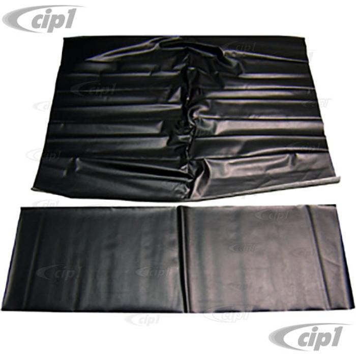 T20-1510-45 - 56-74 GHIA SEDAN HEADLINER - BLACK PERORATED VINYL