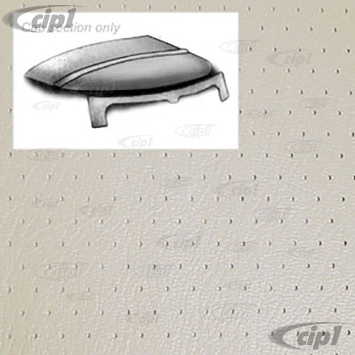 T20-2106-44 - 68-79 BUS CAB SECTION ONLY HEADLINER - OFF-WHITE PERFORATED VINYL