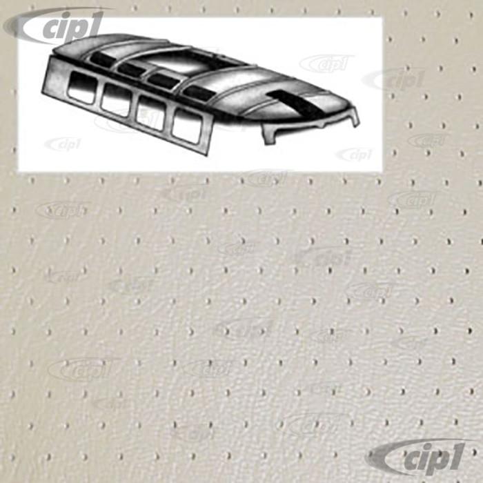T20-2111-44 - 64-67 BUS HEADLINER W/SUNROOF - OFF-WHITE PERFORATED VINYL