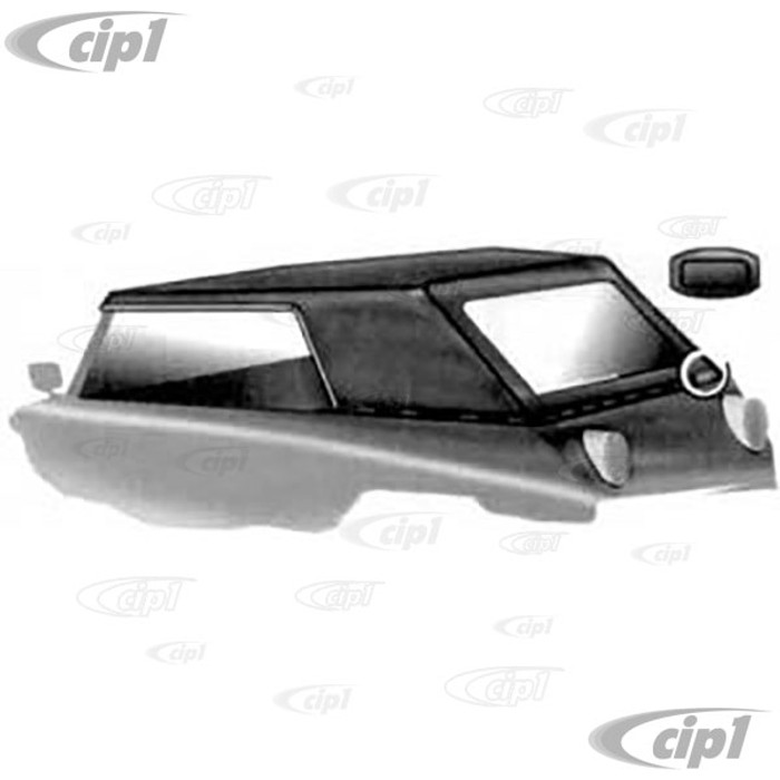 T22-4022-104 - CONVERTIBLE TOP BLACK PINPOINT VINYL THING 73-74 -(A20)