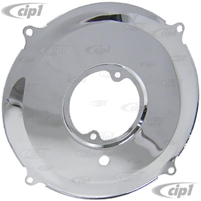 ACC-C10-5781 - CHROME GENERATOR BACKING PLATE - BEETLE 67-79 / GHIA 67-74 / BUS 67-71 / THING 73-74