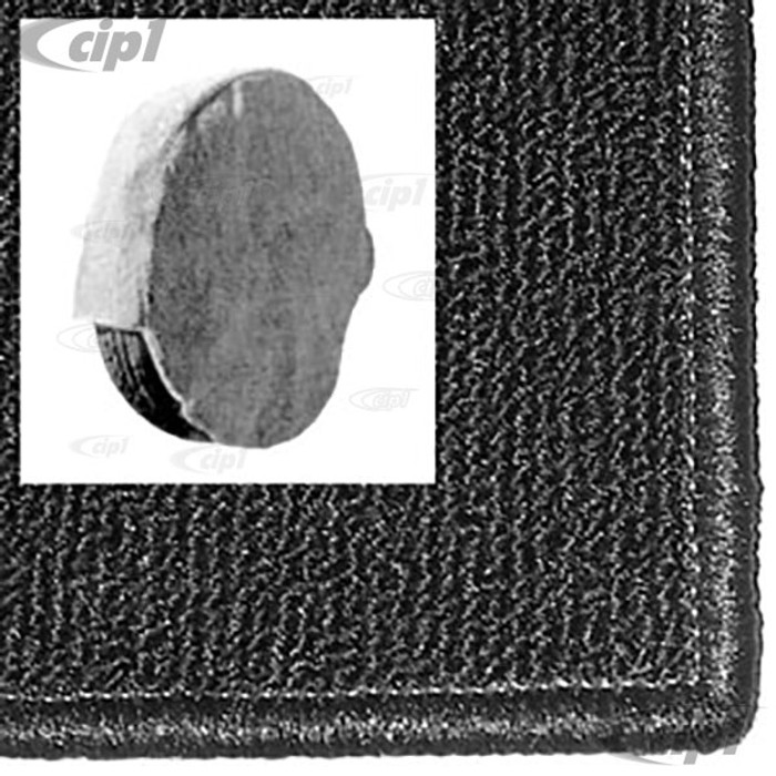 T34-C1149-301 - SPARE TIRE COVER BLACK CARPET 14 IN - BUS 64-79 / THING 73-74
