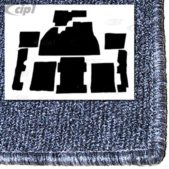 T34-F1110-407 - 73-77 - STANARD BEETLE - 9 PIECE CARPET SET - SALT/PEPPER GREY - FOR USE WITH FOOTREST PLATE - SOLD SET