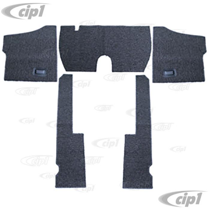 T34-F1117-407 - 58-68 BEETLE 5PC CARPET SET (FOR USE WITH ORIGINAL RUBBER MATS) - SALT & PEPPER