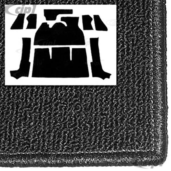 T34-F1320-301 - 71-72 SUPER BEETLE CONVERTIBLE 9PC CARPET SET - BLACK