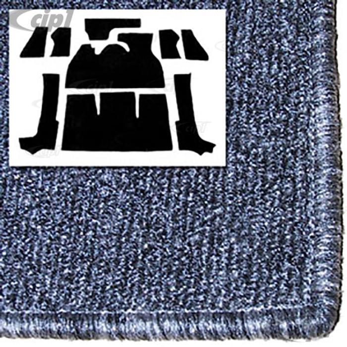 T34-F1320-407 - 71-72 SUPER BEETLE CONVERTIBLE 9PC CARPET SET - SALT&PEPPER GREY