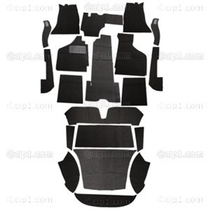 T34-F1522-301 - 58-68 GHIA 20PC CARPET SET - BLACK - (A20)