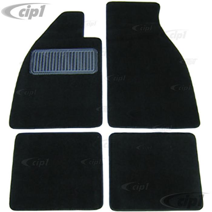 T34-M1321-701 - 54-79 BEETLE CONVERTIBLE CARPETED FLOOR MATS 4PC SET - BLACK CUTPILE