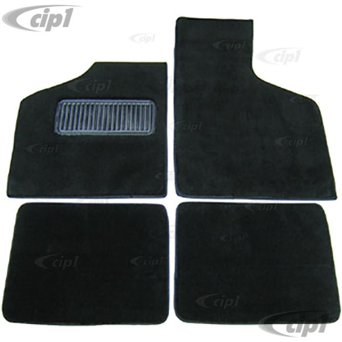 T34-M3025-701 - 63-74 TYPE 3 CARPETED FLOOR MATS 4PC SET - BLACK