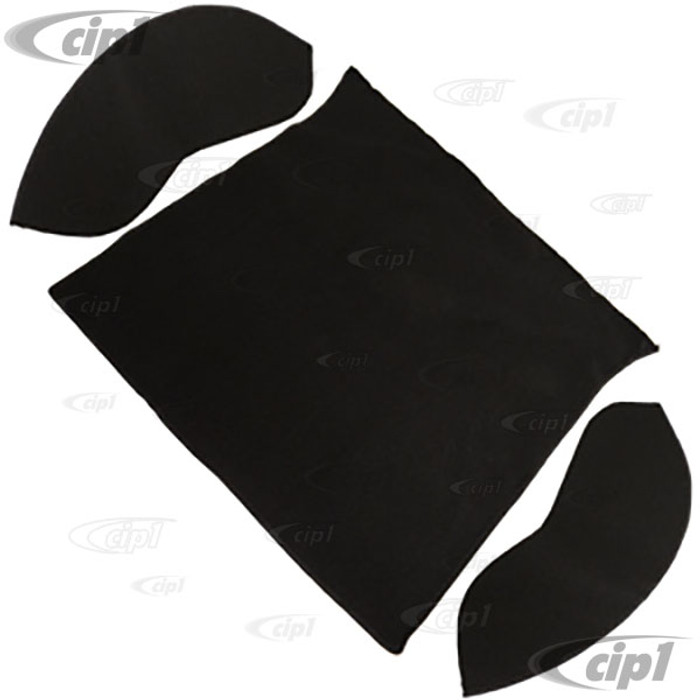 T34-R1100-301 - 54-57 BEETLE SEDAN REAR WELL 3 PC KIT - BLACK