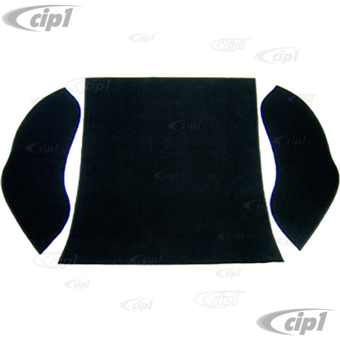 T34-R1101-301 - 58-64 BEETLE SEDAN REAR WELL 3 PC KIT - BLACK