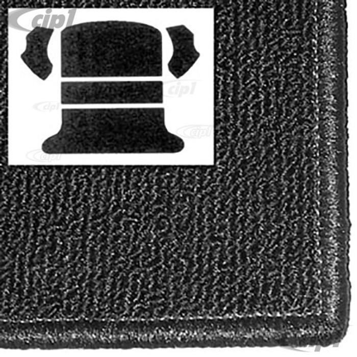 T34-R1102-301 - 65-72 BEETLE SEDAN REAR WELL 5 PC KIT - BLACK