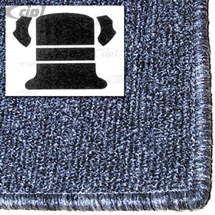T34-R1102-407 - 65-72 BEETLE SEDAN REAR WELL 5 PC KIT - SALT&PEPPER GREY